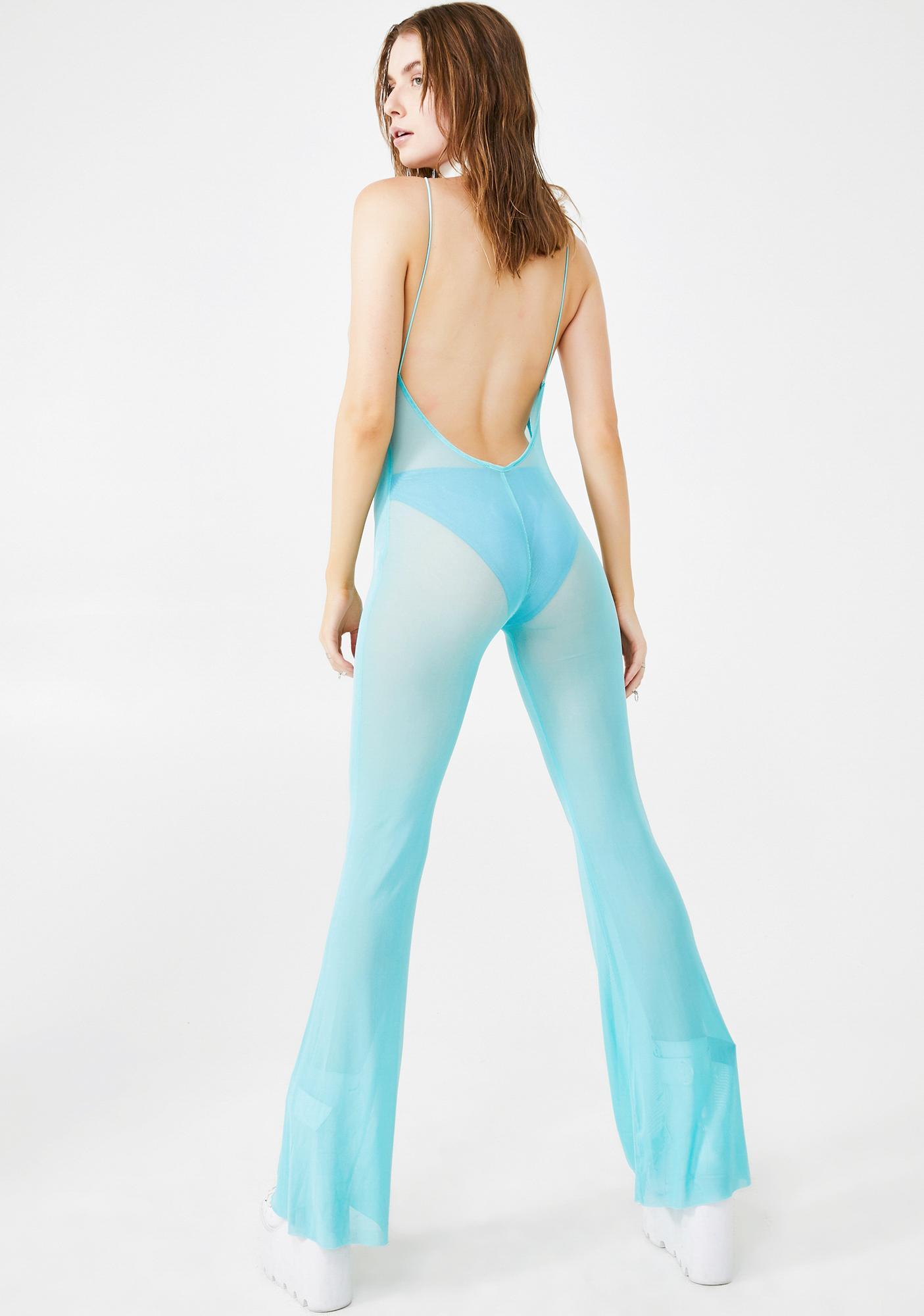 Elsie & Fred Drive Sheer Backless Jumpsuit