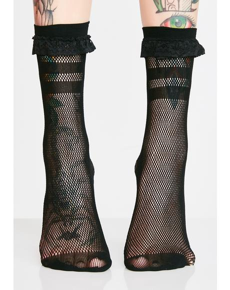 Bad Ghoul Mesh Socks