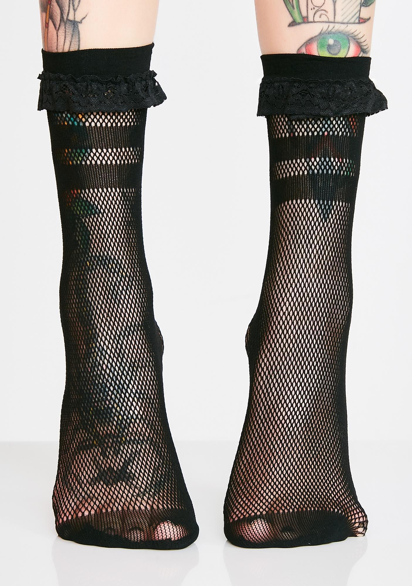 Killstar Bad Ghoul Mesh Socks