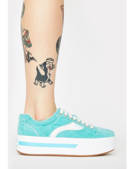 Aqua Cosmic Kick Skater Sneakers