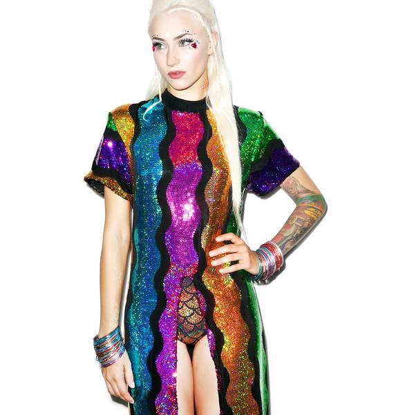 Isolated Heroes Rainbow Split Dress