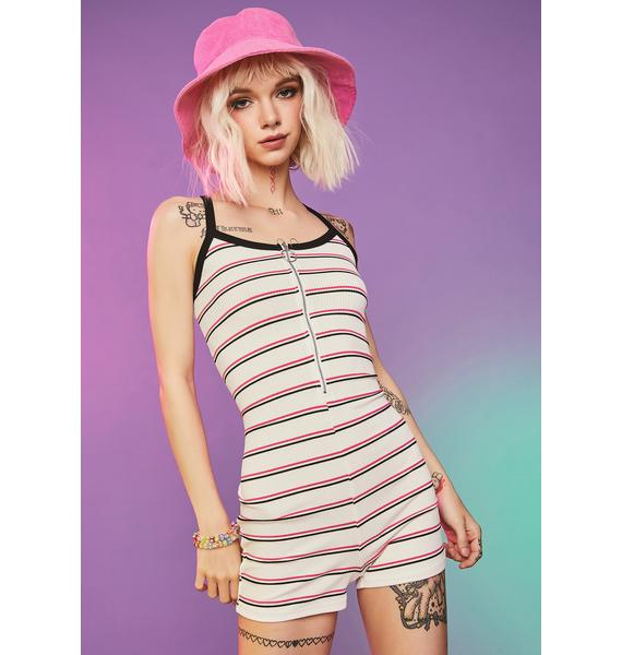 Along For The Ride Striped Romper