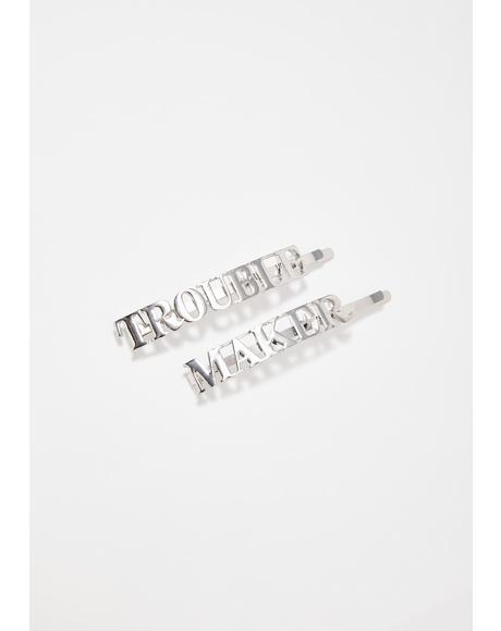 Lil Trouble Maker Hair Pins
