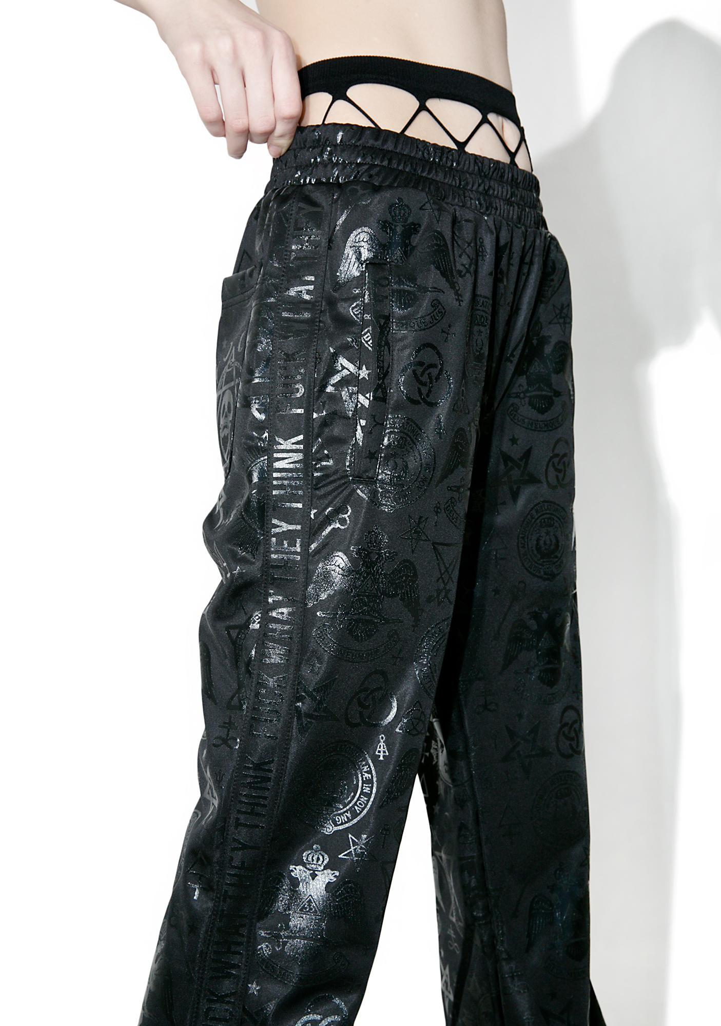 Killstar Sit And Spin Tracksuit Bottoms