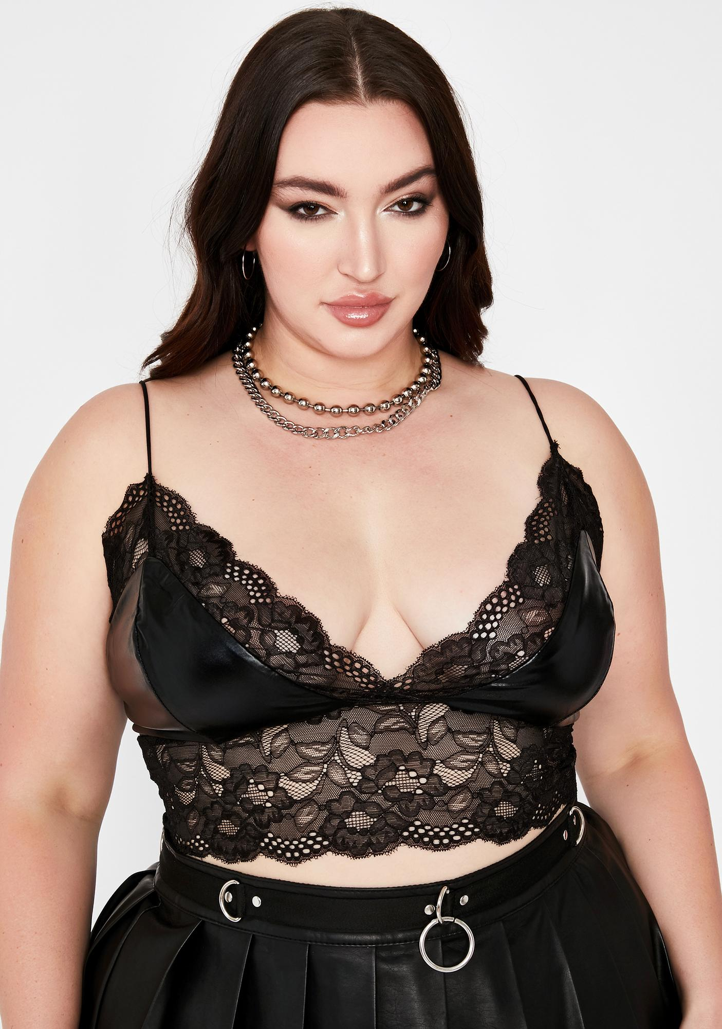 Please Call For Me Lace Bra Top