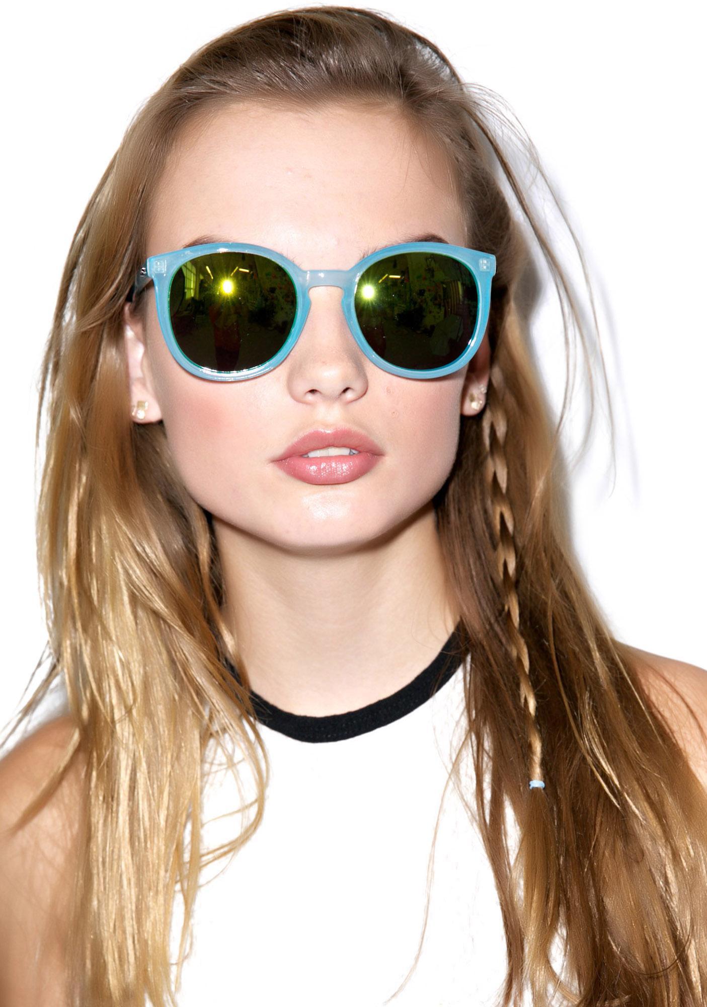 Quay Eyeware Dixi Blue Sunglasses
