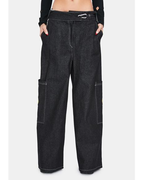Scream Inside Wide Leg Trousers