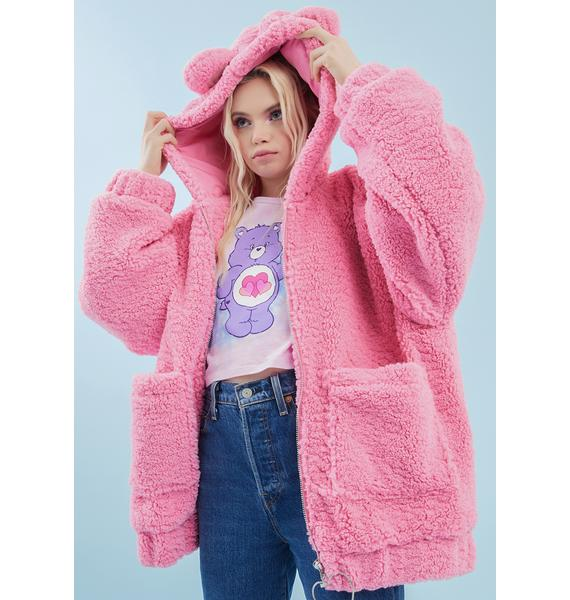 Dolls Kill x Care Bears Warm Fuzzies Oversized Hoodie