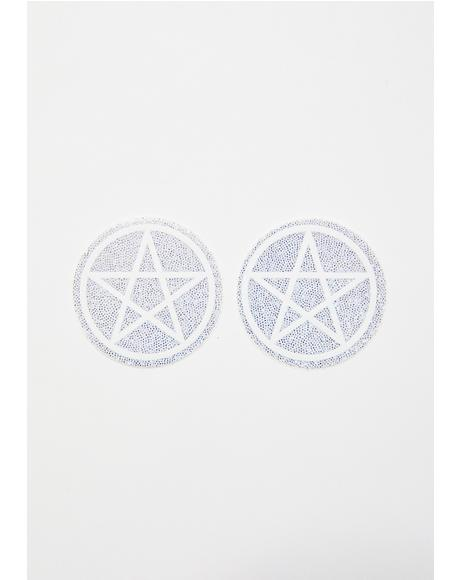 Sparkly Pentagram Pasties