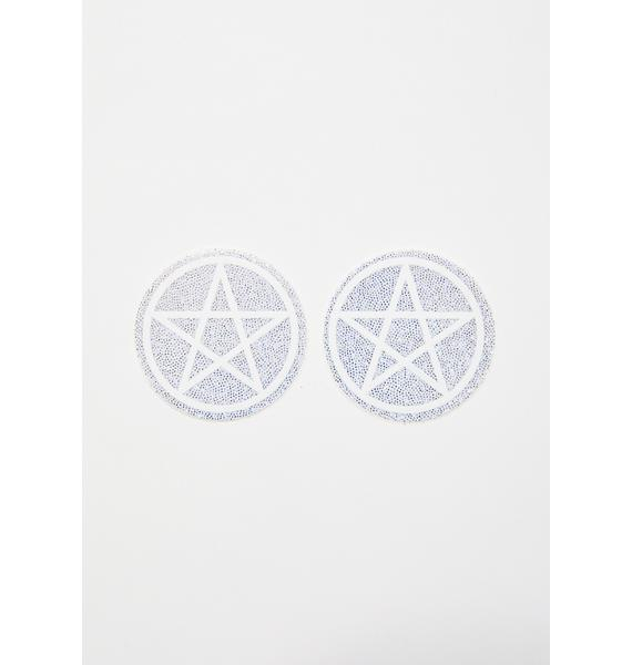 Pastease Sparkly Pentagram Pasties