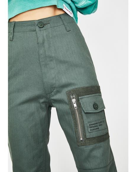 Bunker Herringbone Cargo Pants