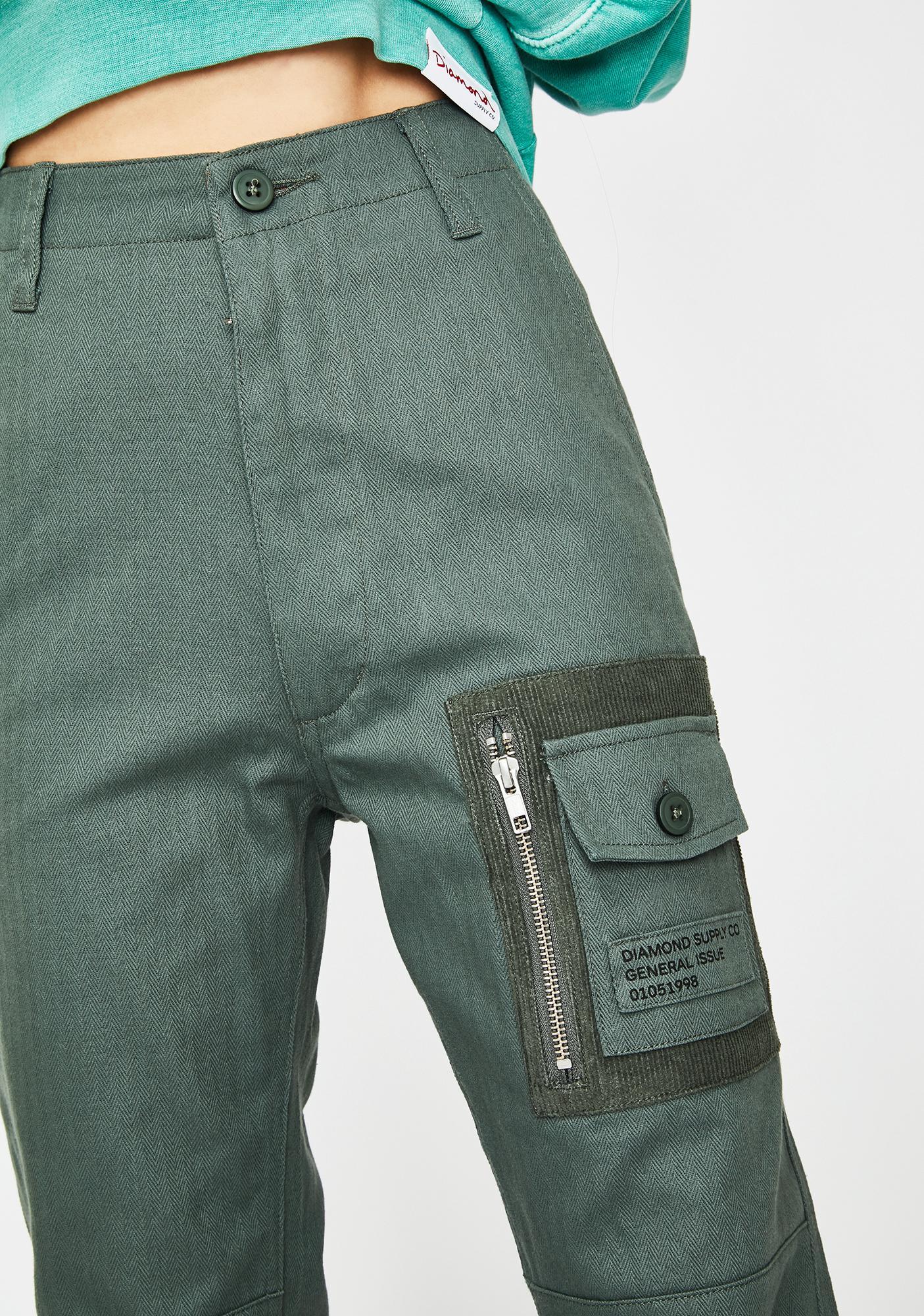 Diamond Supply Co Bunker Herringbone Cargo Pants