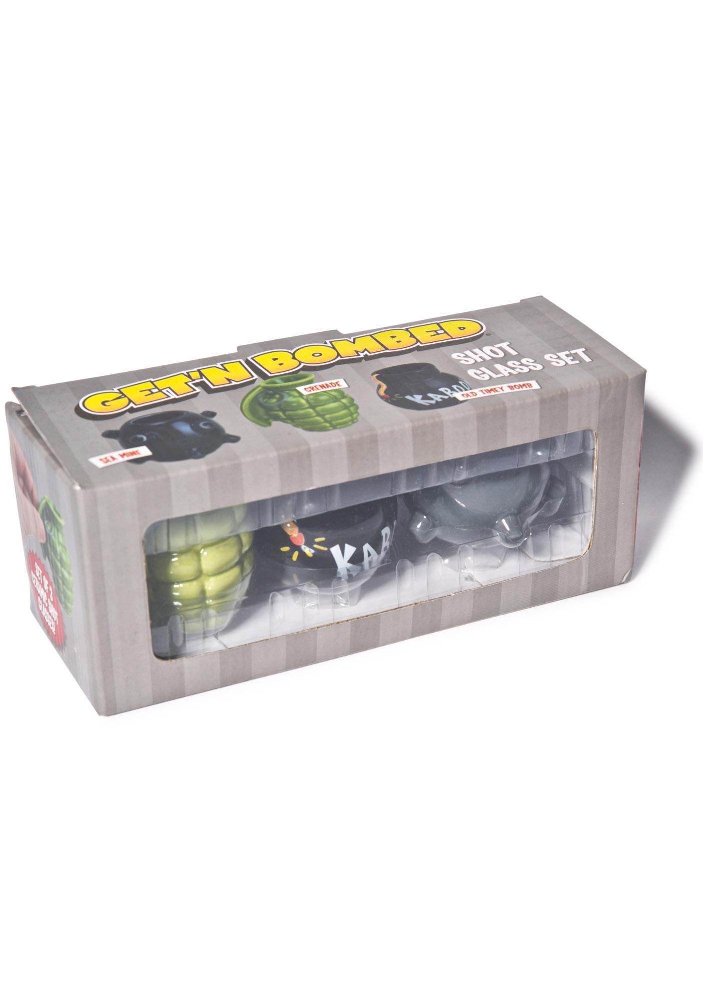 Get Bombed Shot Glass Set