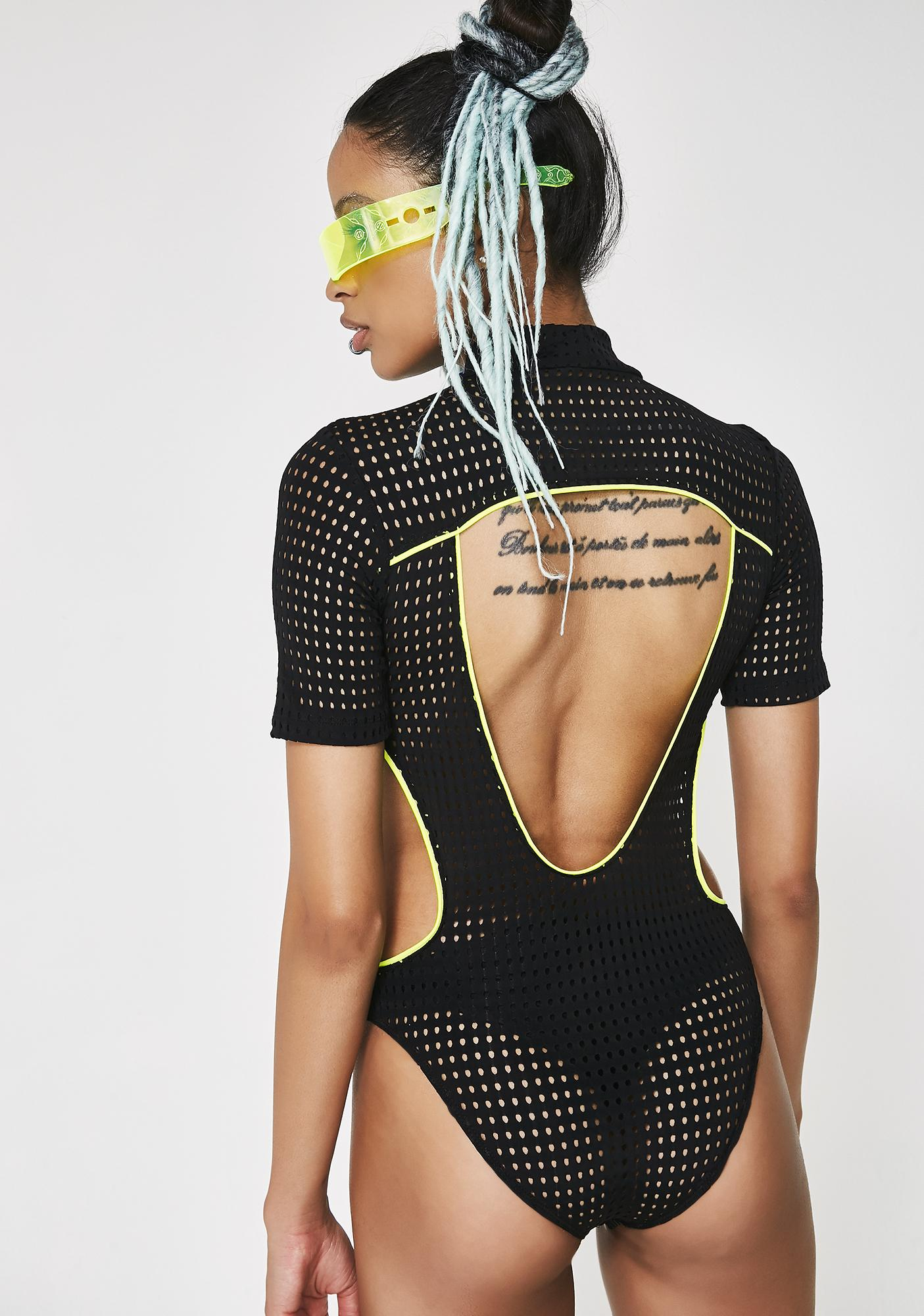 Club Exx Digital Vizualz Mesh Bodysuit
