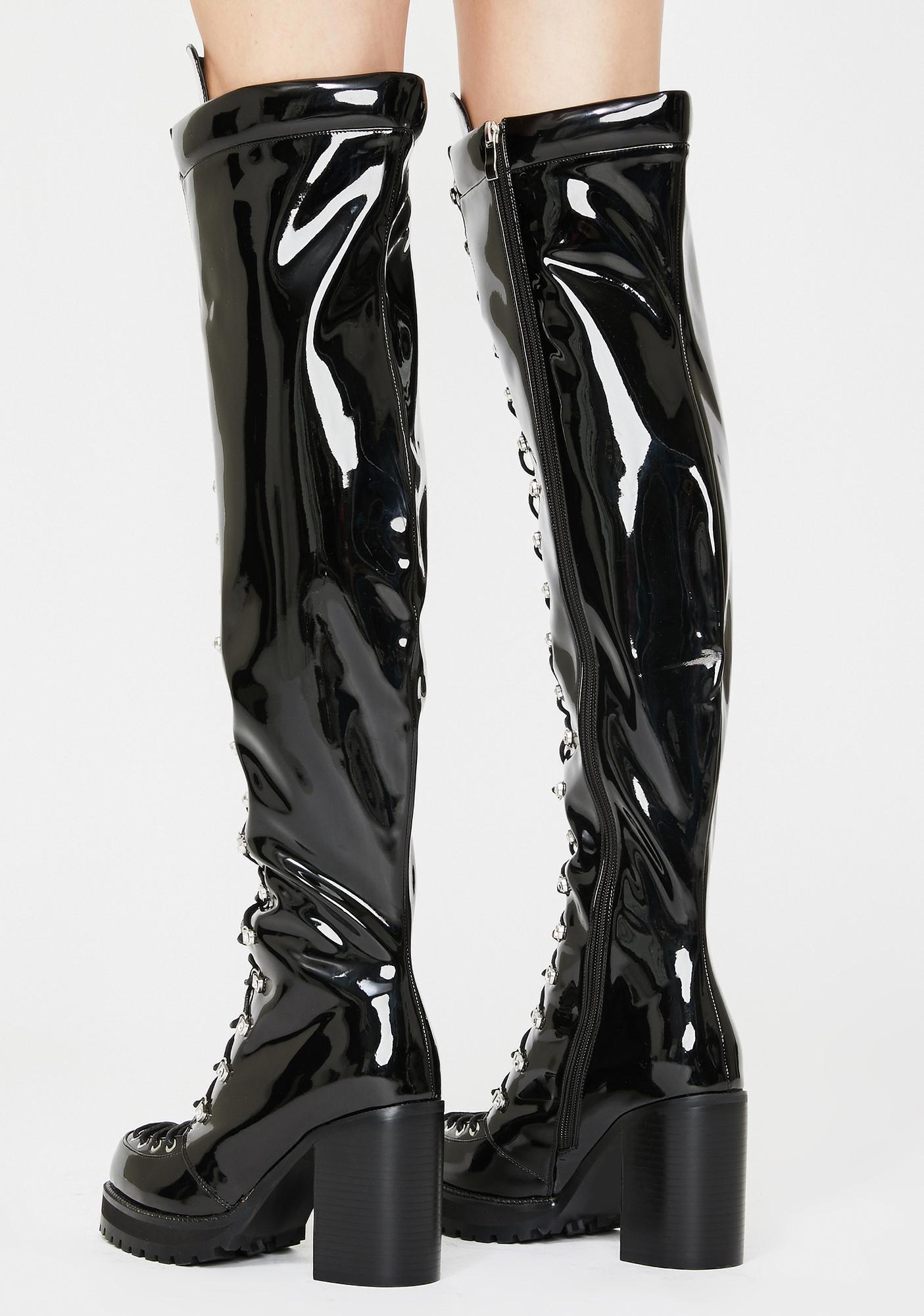 AZALEA WANG Isabella Patent Boots