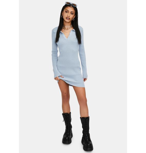 Twisted Vibes Sweater Mini Dress