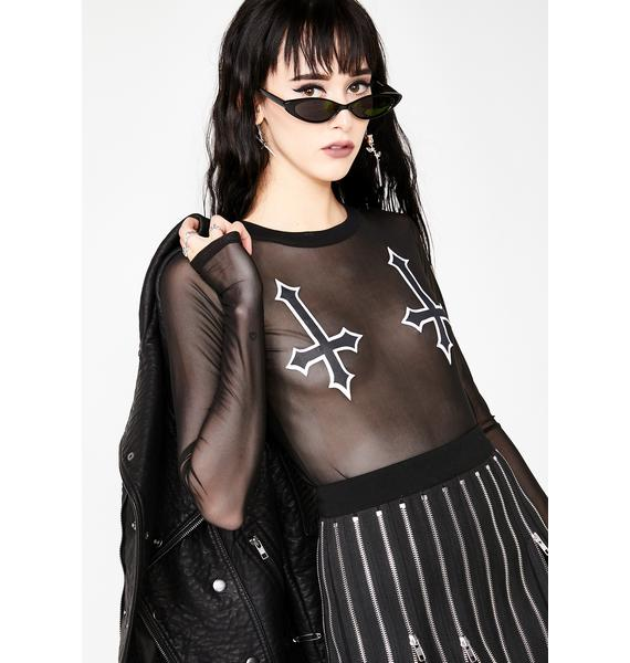 Dolls Kill Sinister Sass Long Sleeve Top