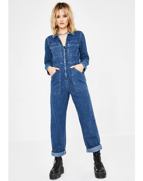 Denim Workwear Jumpsuit
