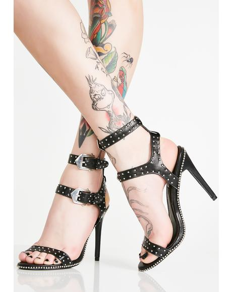 Hell Of A Night Studded Heels