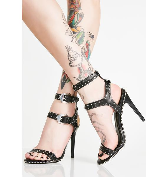 Hell Of A Night Studded Heels