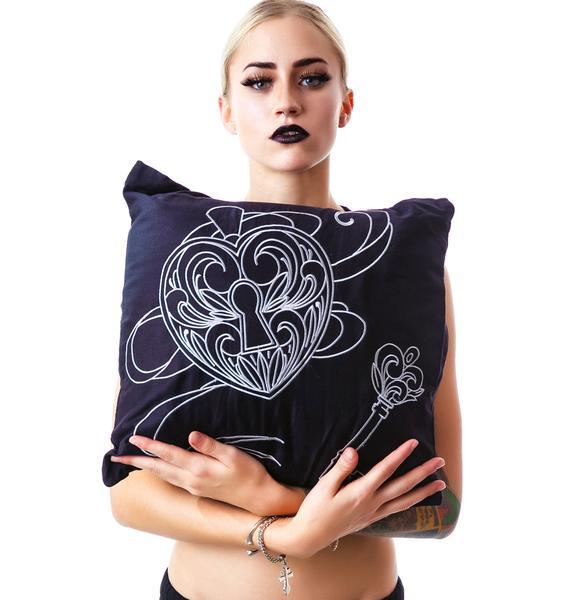 Key to My Heart Locket Pillow