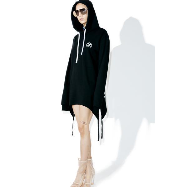 Civil Clothing Extended Zip Reverse Hoodie