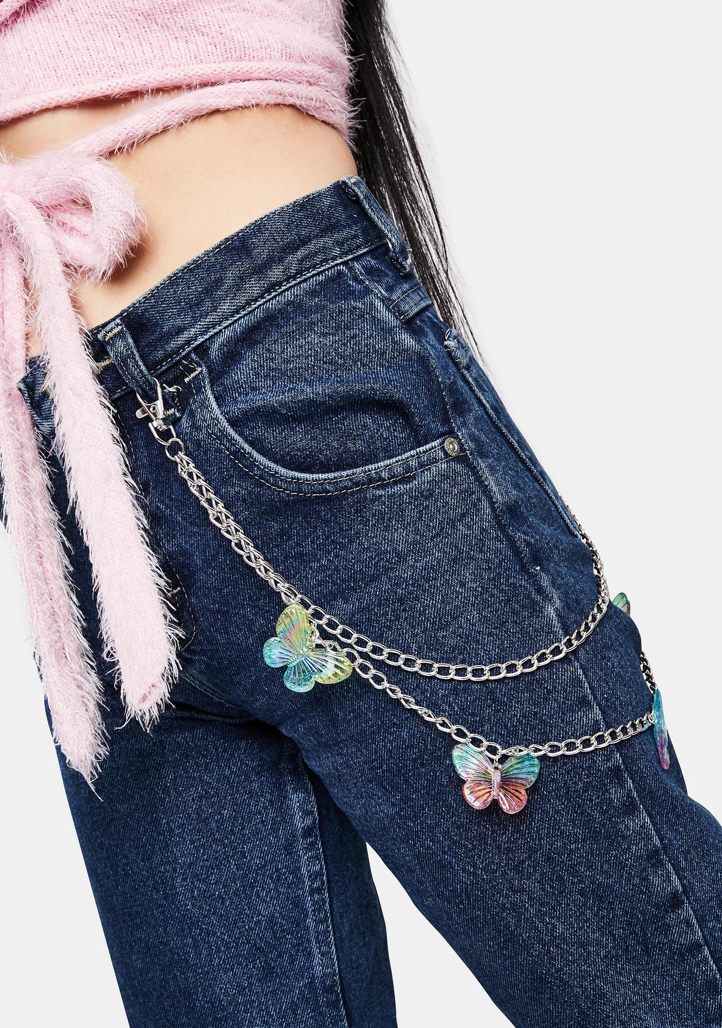 Magic Springs Butterfly Charm Belt Chain