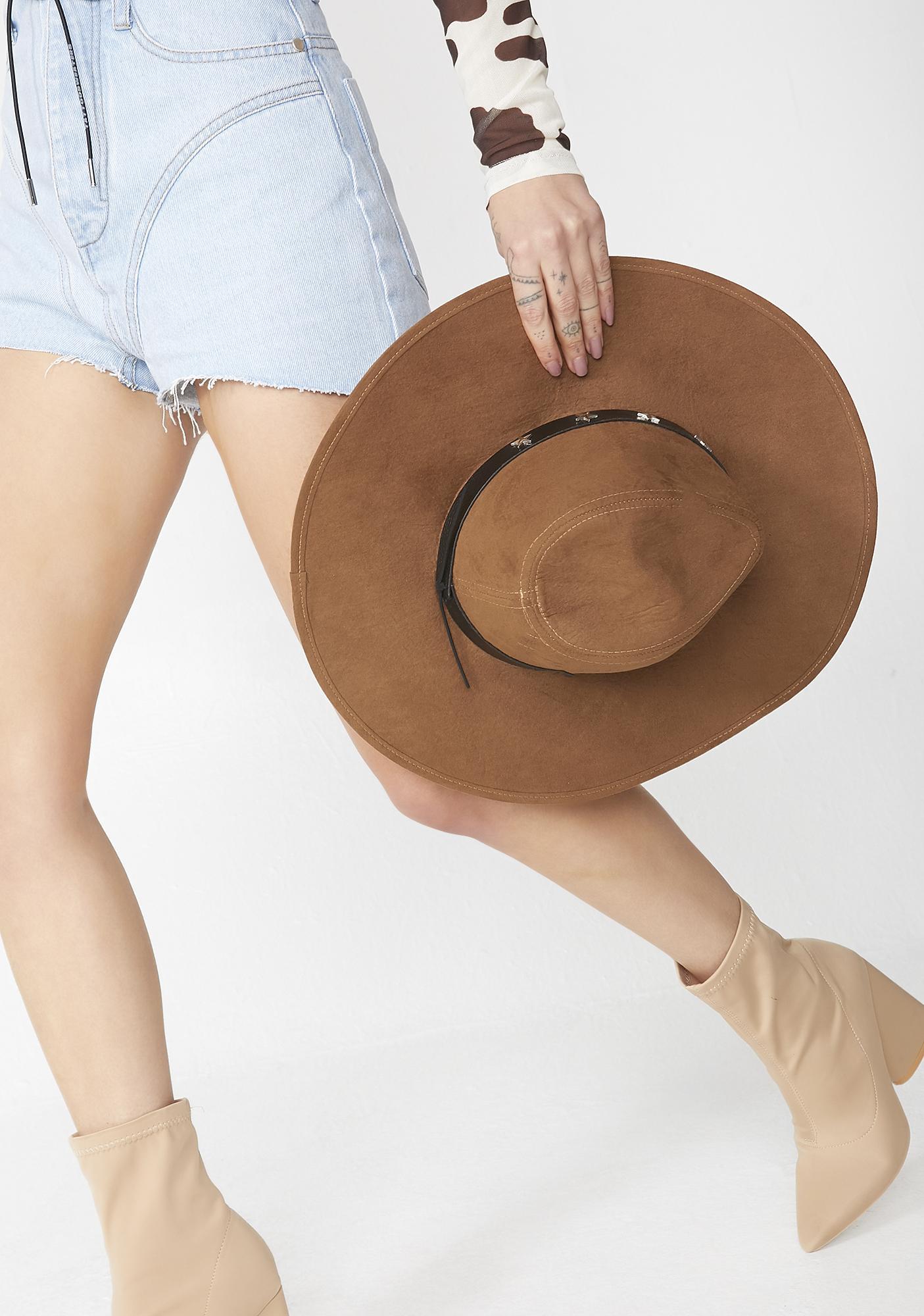 Whiskey Countin' Stars Wide Brim Hat