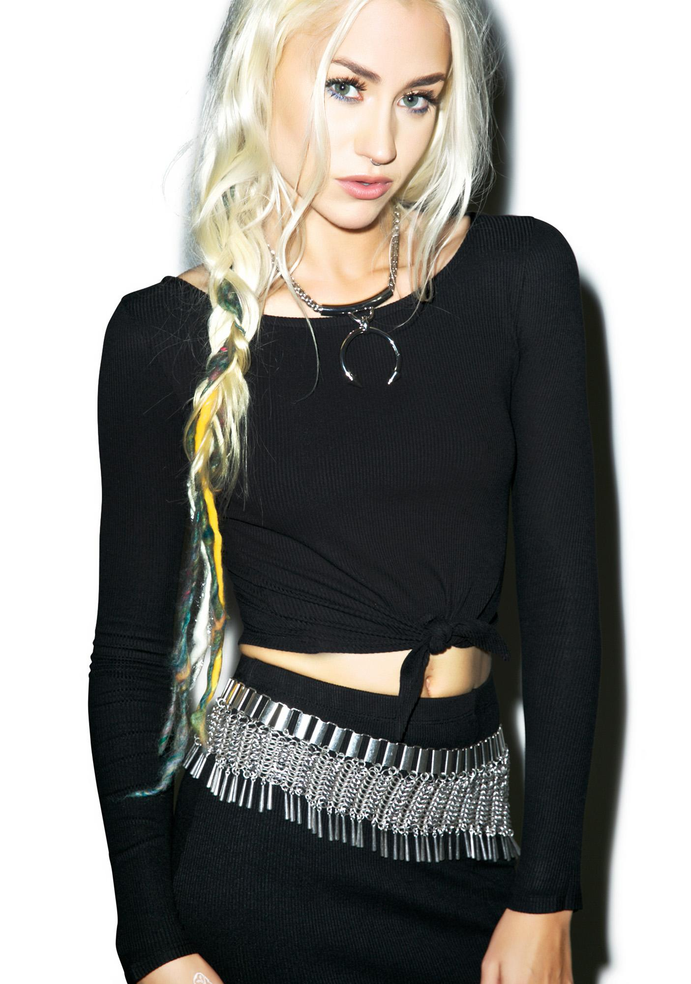 Amuse Society Brady Knit Crop Top