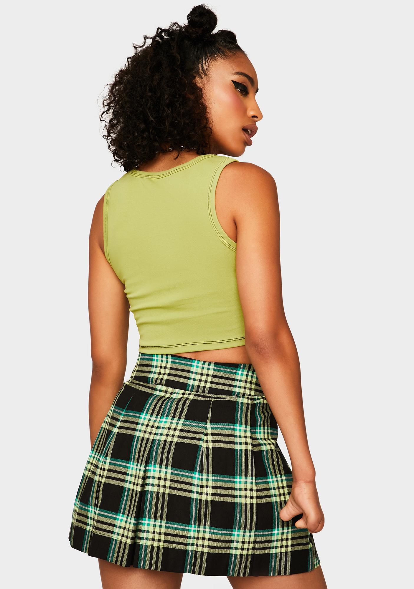 Black Friday Lift Off Plaid Skirt