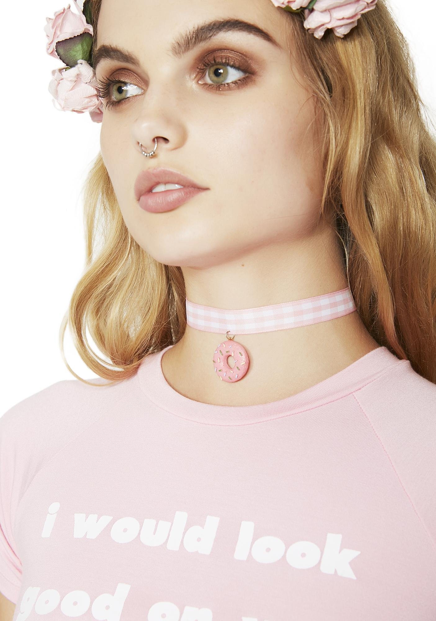 Fetching Frosting Donut Choker