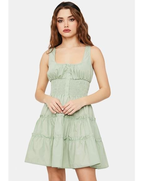 Sage Serene Sass Mini Dress