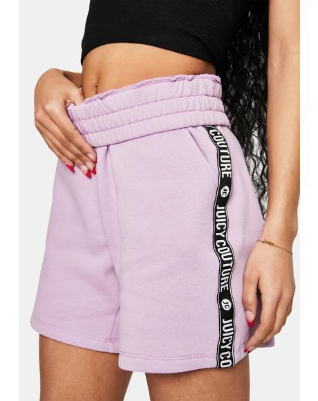Lavender Lipstick Fleece Shorts