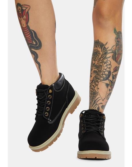 Black Drifter LX Chukka Boots