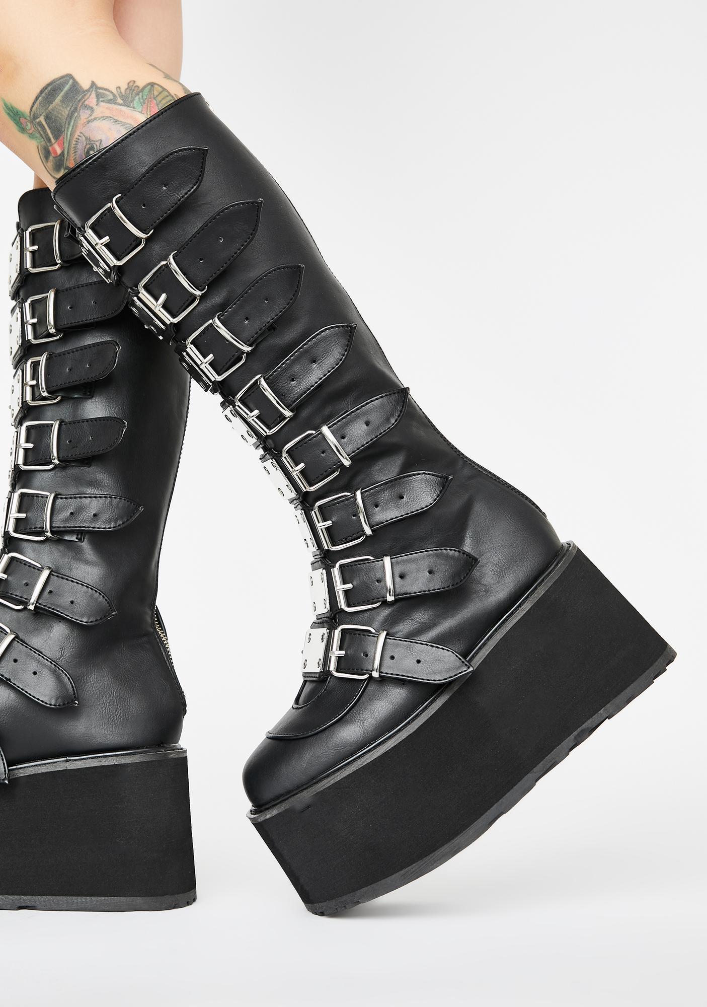 Demonia Damned Destiny Platform Boots