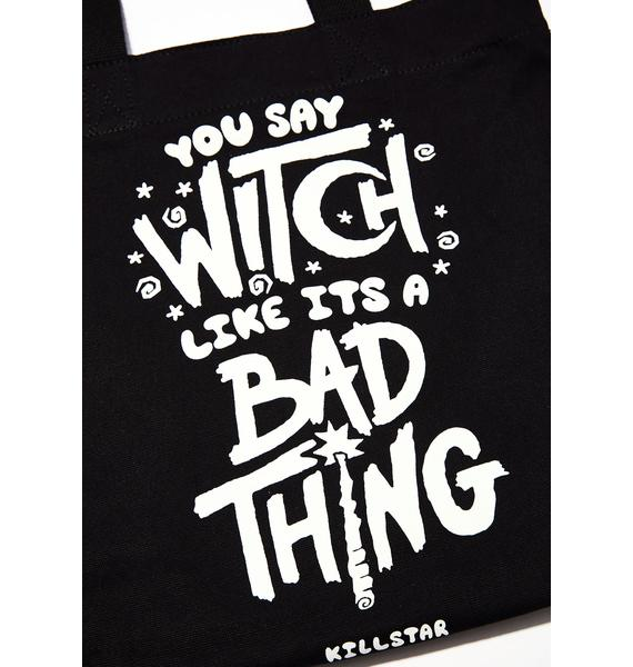Killstar Who's Bad Tote Bag