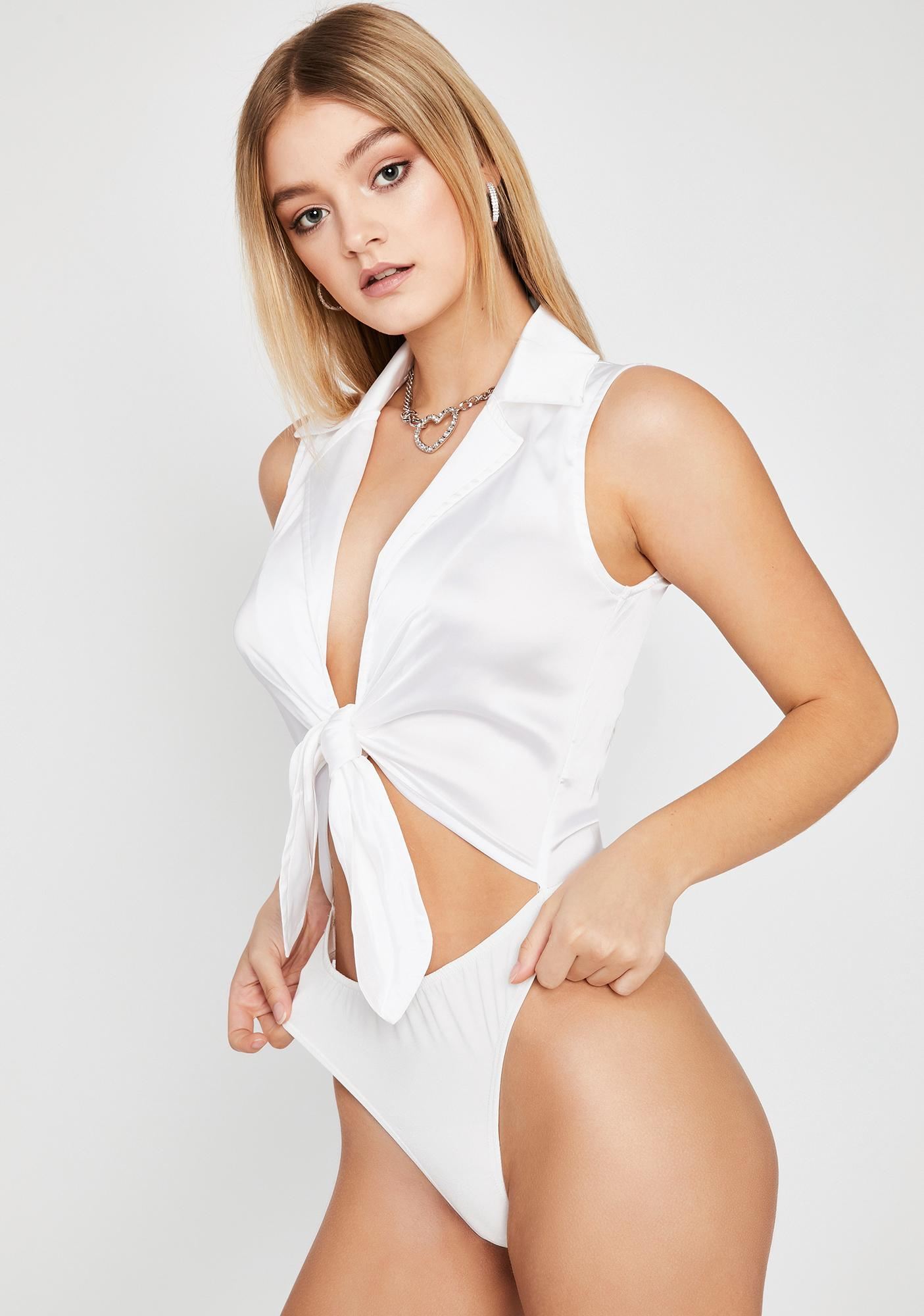 Pure Sultry Affair Front Tie Bodysuit