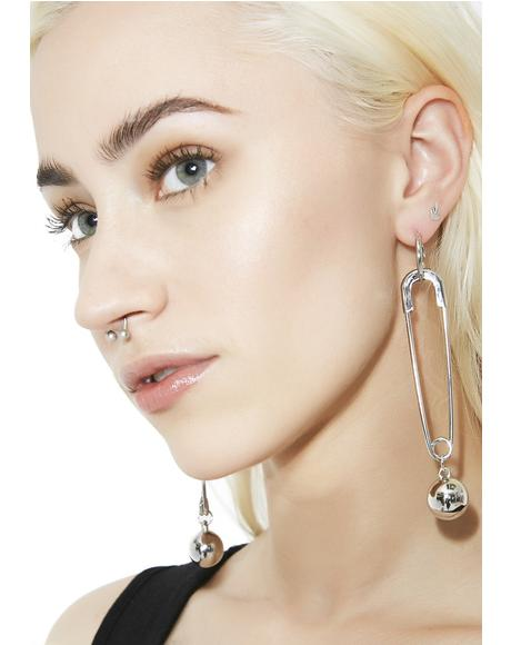 What's Yer Point Safety Pin Earrings