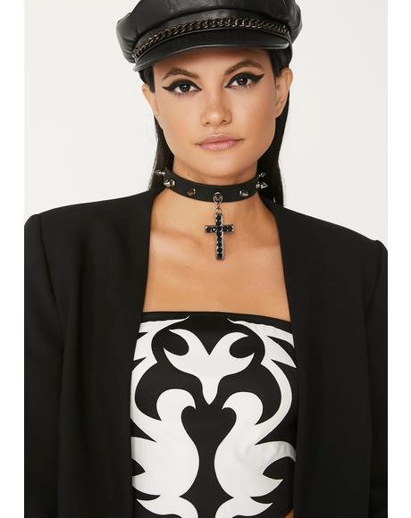 Hell's Worship Cross Choker