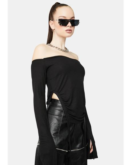 To The Top Ruched Crop Top