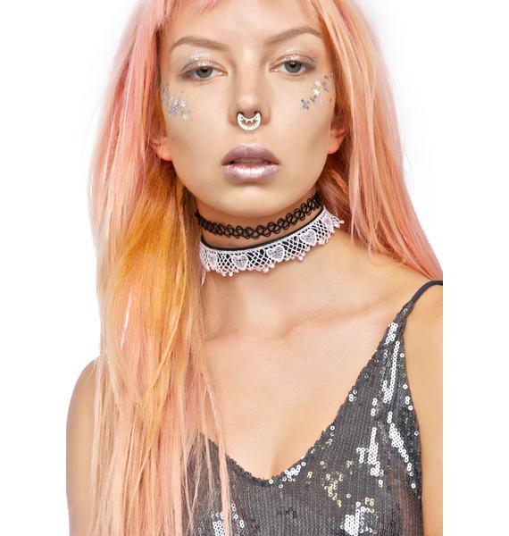 NecroLeather Secret's Out Bondage Lace Collar