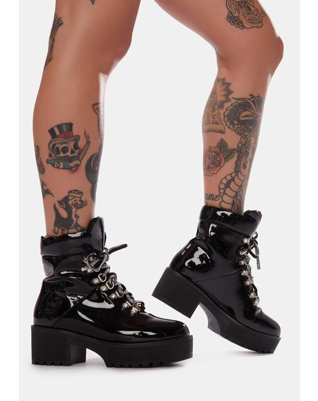 You Know You're A Freak Platform Booties