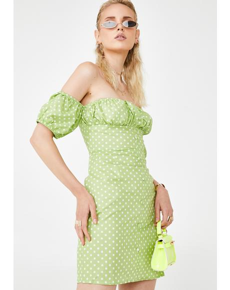 Honeydew Divine Delight Off The Shoulder Dress