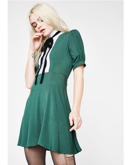 Hunter Green Jolie Dress