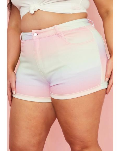 True Sherbet Delight Denim Shorts