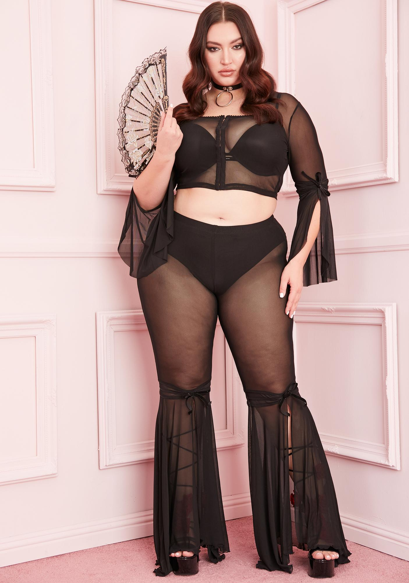 Sugar Thrillz Your Last First Date Mesh Flares