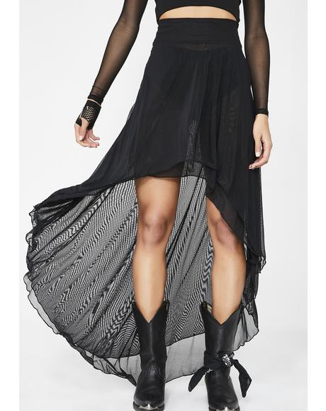 Artemis Layered Mesh Skirt
