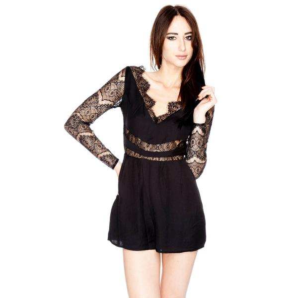 Paradise Stars Long Sleeve Playsuit