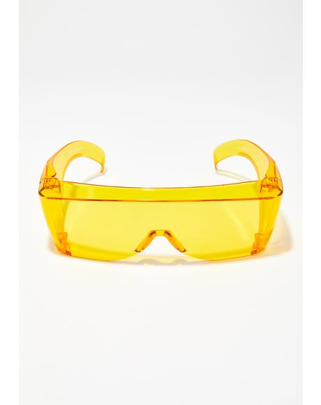 Rad Scientist Shield Sunglasses