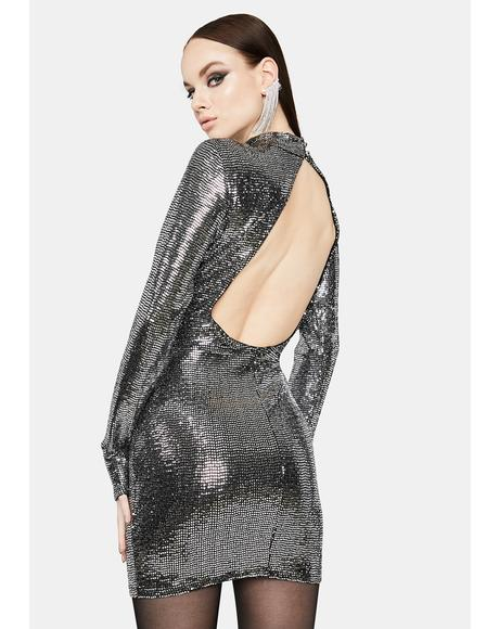 Mercurial Madness Metallic Mini Dress